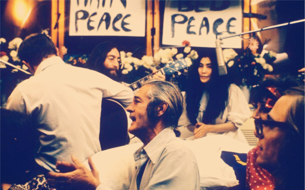 Timothy Leary with John Lennon